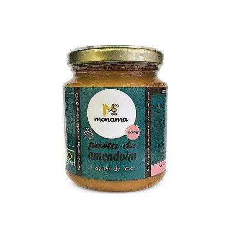 Pasta de Amendoim com Açucar de Coco - Monama 200g