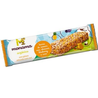Barra de Cereal Orgânica de Abacaxi, Blueberry e Coco Monama - 25g
