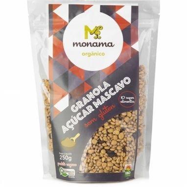 Granola Orgânica com Açúcar Mascavo SEM GLÚTEN Monama - 250g