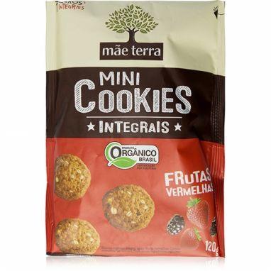 Mini Cookies Integrais Orgânico Frutas Vermelhas Mãe Terra - 120g