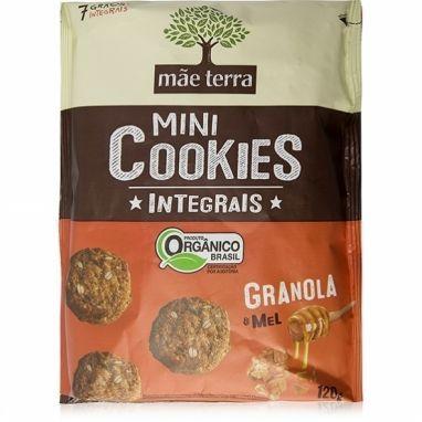Mini Cookies Integrais Orgânico Granola e Mel Mãe Terra - 120g