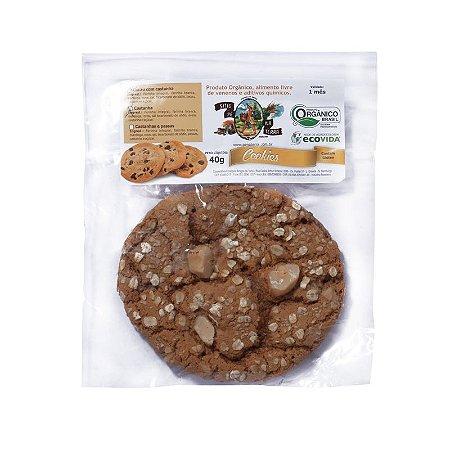 Cookie Orgânico Cacau e Castanha 40g - Sítio Pé na Terra