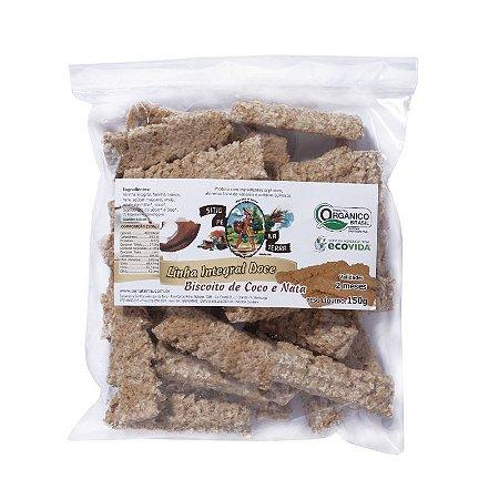 Biscoito Orgânico de Coco e Nata 150g - Sítio Pé na Terra