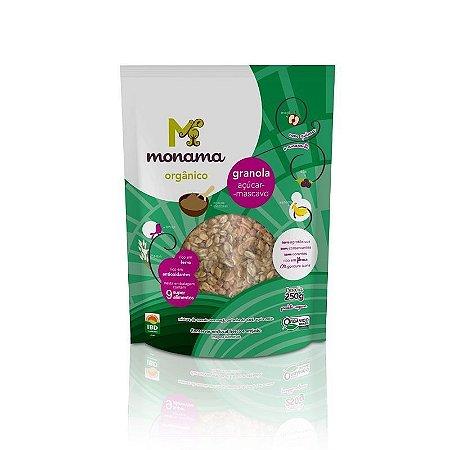 Granola Orgânica com Açúcar Mascavo SEM GLÚTEN Monama - 280g