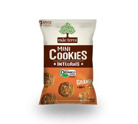 Mini Cookies Integrais Orgânico - Granola e Mel Mãe Terra - 25g