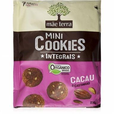 Mini Cookies Integrais Orgânico - Cacau e Castanhas Mãe Terra - 120g