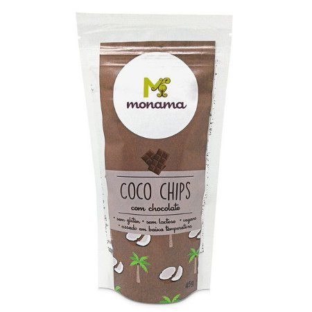 Chips de Coco com Chocolate Monama - 45g