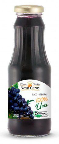 Suco Orgânico de Uva Novo Citrus - 300ml