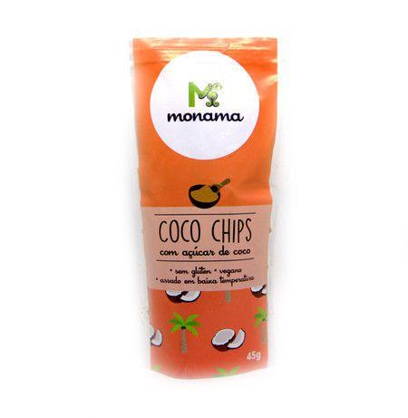 Chips de Coco com Açúcar de Coco Monama - 45g