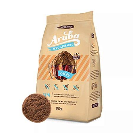 Biscoito Cacau SEM GLÚTEN e LACTOSE e ZERO AÇUCAR - Aruba - 100g