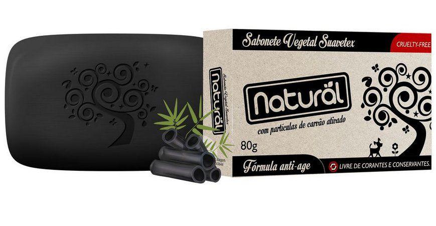 Sabonete Natural Suavetex com Carvão Ativado - 80g