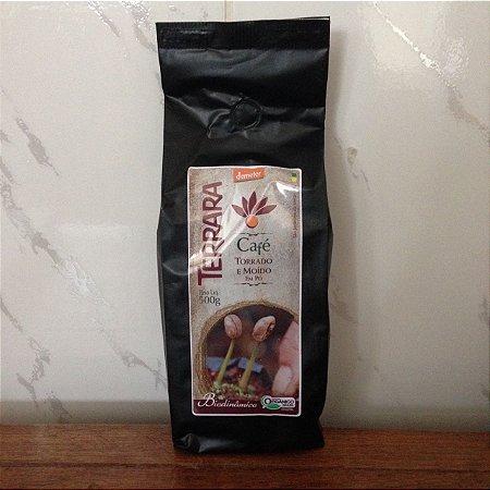Café Orgânico torrado e moído em pó Terrara - 1kg