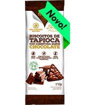 Biscoito de Tapioca com cobertura de Chocolate - Fhom - 15g