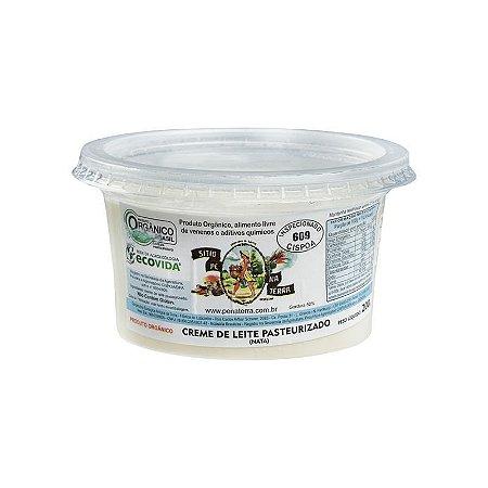 Creme de Leite Orgânico Pasteurizado (nata) - 200 g Sítio Pé na Terra