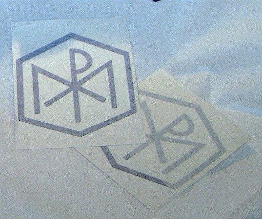 adesivo logotipo das Congregações Marianas - azul