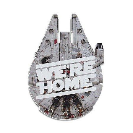 Porta Chaves 3 Ganchos Millennium Falcon We´re Home