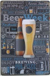 Placa de Metal Decorativa Beer Week