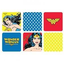 Conjunto 6 Porta Copos Mulher Maravilha - DC Comics
