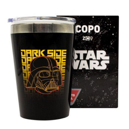 Copo Viagem Snap 300ml Darth Vader / Dark Side - Star Wars