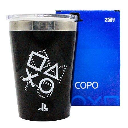 Copo Viagem Snap 300ml Plays Since 1994 - PlayStation