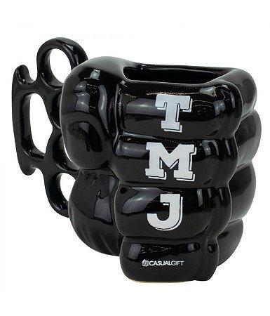 Caneca 3D Cerâmica Soco Inglês 350ml Tamo Junto - TMJ