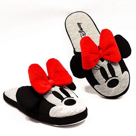 Pantufa / Chinelo de Quarto Minnie Mouse Lacinho M (36 - 38)