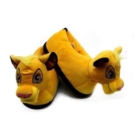 Pantufa 3D Unissex Simba / Rei Leão - Disney