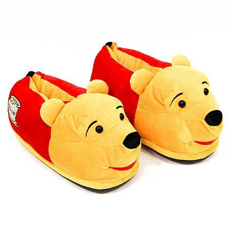 Pantufa 3D Unissex Pooh / Ursinho Puff  - Disney