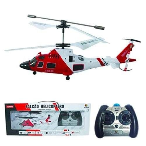 Helicóptero Controle Remoto 3 Canais Falcao