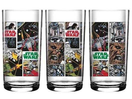 Copo Vidro Longo 300ml Star Wars - Comics