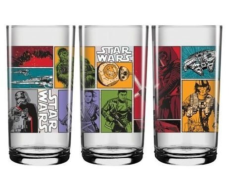Copo Vidro Longo 300ml Star Wars - Comics II