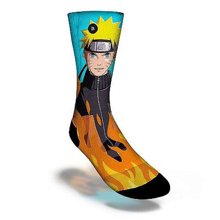 Meia Geek Divertida Cano Alto It Sox - Naruto