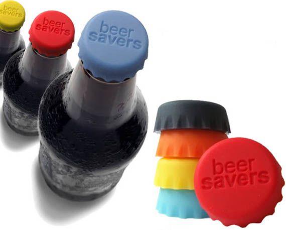 Conjunto c/ 6 Tampas de Silicone para Garrafas - Beer Saver