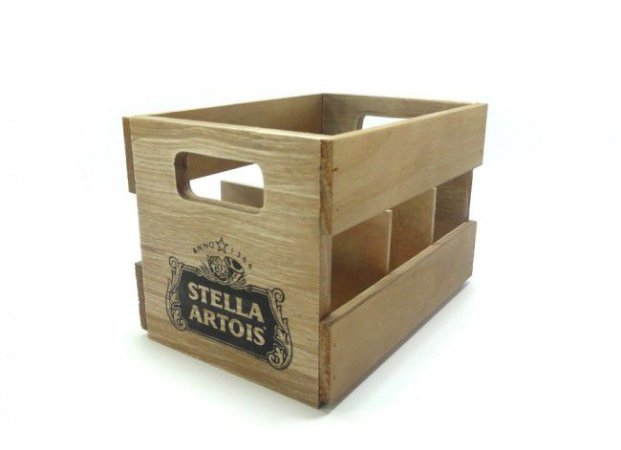 Engradado de Madeira 6 Long Neck - Stella Artois