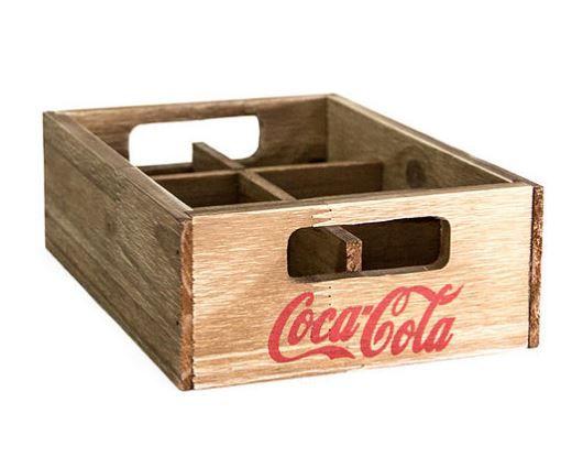 Engradado Madeira 6 Latas Coca Cola
