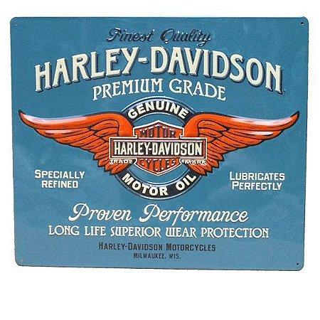 Placa decorativa G Metal Harley Davidson