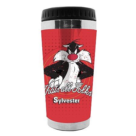 Copo Térmico Frajola, Sylvester - Looney Tunes