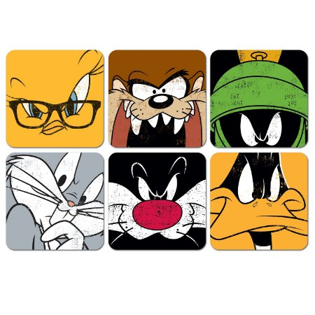 Conjunto 6 Porta Copos Personagens Faces - Looney Tunes