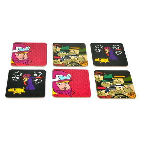 Conjunto 6 Porta Copos Corrida Maluca - Hanna Barbera
