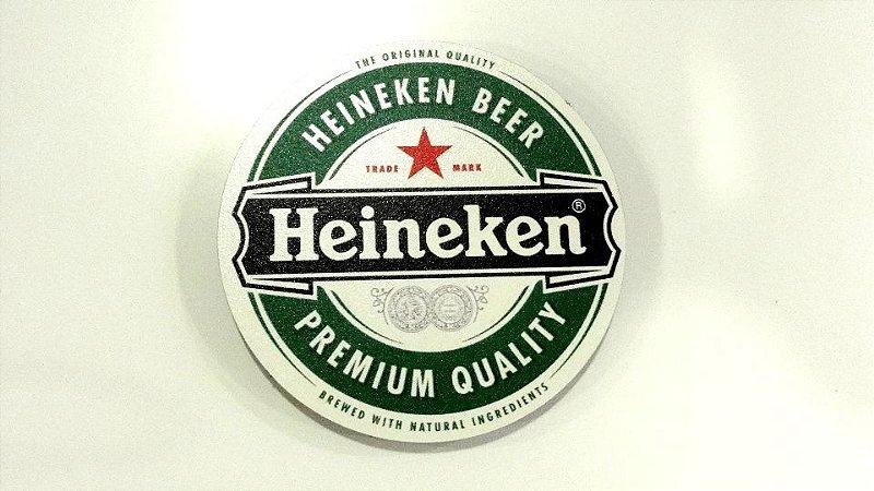 Conjunto 2 Porta Copos Madeira Heineken