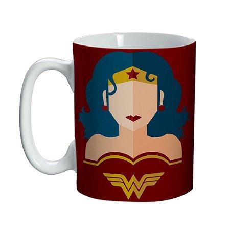 Caneca Porcelana Mini Mulher Maravilha Silueta - DC Comics