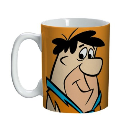 Caneca Porcelana Mini Fred Flinstones - Hanna Barbera