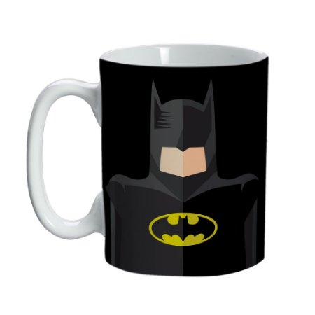 Caneca Porcelana Mini Batman Silueta - DC Comics