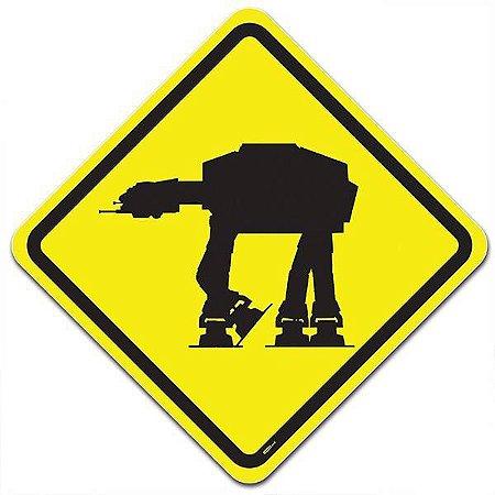 Placa Trânsito Perigo Império na Pista