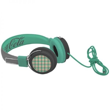 Headphone Coca Cola Verde Xadrez