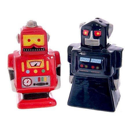Conjunto Saleiro e Pimenteiro Robôs
