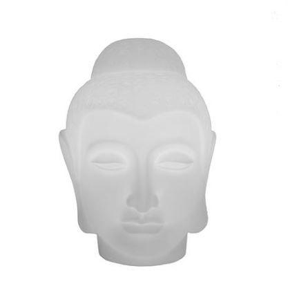 Luminaria Bivolt Buda Branco /Natural
