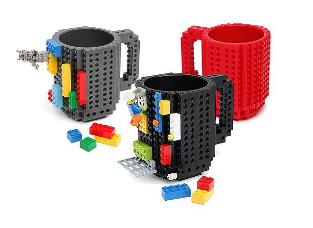 Caneca Bloco de Montar - Build on Brick Mug - Preta