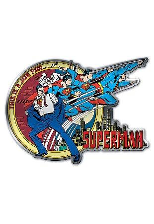 Placa de Metal Recortada Superman Transformação - DC Comics