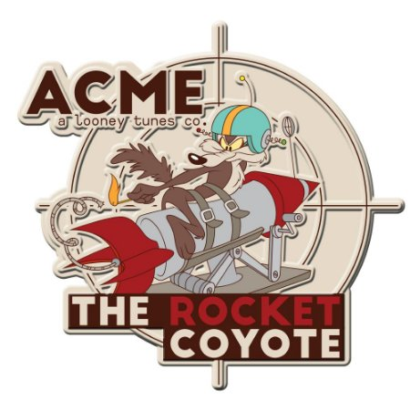 Placa de Metal Decorativa ACME COYOTE - Looney Tunes